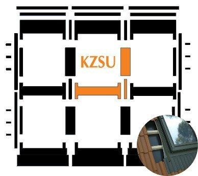 Kombi-Eindeckrahmen Okpol KZSH für flache hochprofilierte eindeckmaterialen www.house-4u.eu