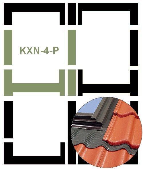 Eindeckrahmen Fakro KXN-4-P Modul für die Kombination übereinander für hochprofilierte Eindeckmaterialien www.house-4u.eu