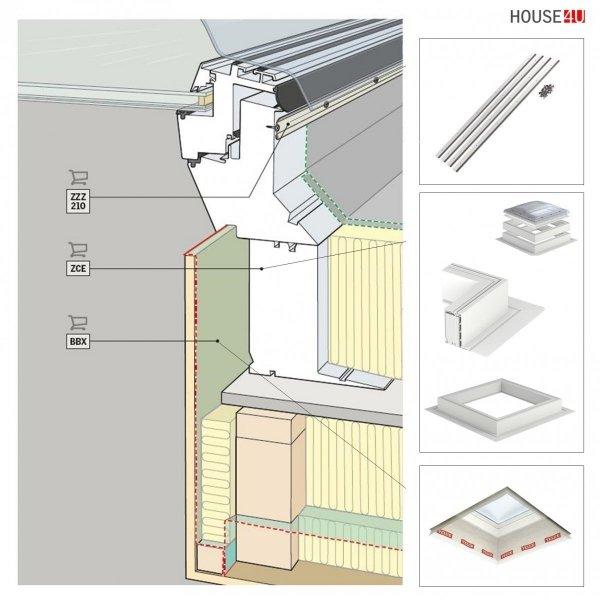"VELUX Flachdach-Fenster ""KONVEX-GLAS"" Typ CFP/CVP Modul ISD 1093 www.house-4u.de"