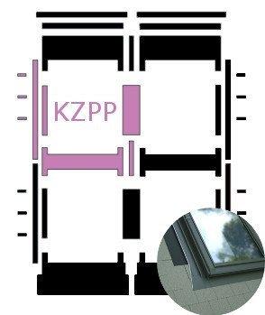 Kombi-Eindeckrahmen Okpol KZPP für Flache Eindeckmaterialen www.house-4u.eu