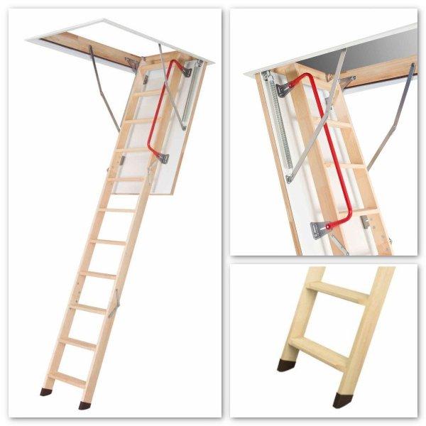Bodentreppe FAKRO LWZ Mehrteilige Bodentreppe aus Holz U=1,1 W/m²K www.house-4u.eu