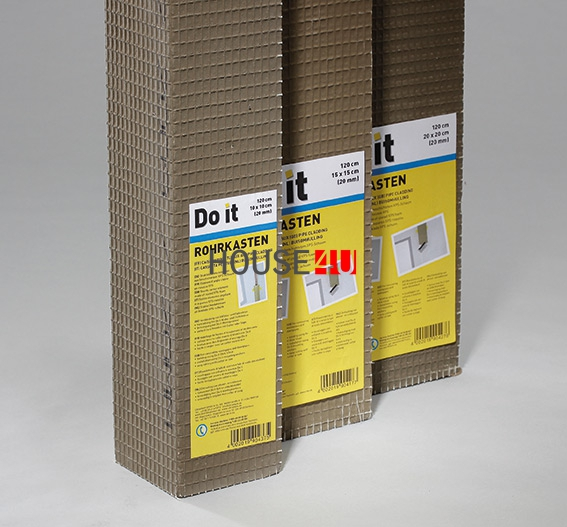Rohrkasten-L 20x20cm x 120 Ultrament Do it Bauplatte www.house-4u.eu