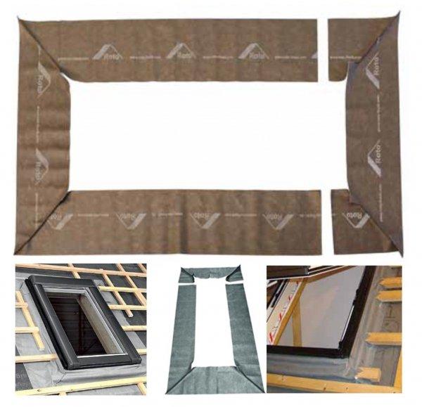 Außenanschlussschürze Roto ASA RxEco/QxEco für Designo oder RotoQ Anschluss Schürze Aussen