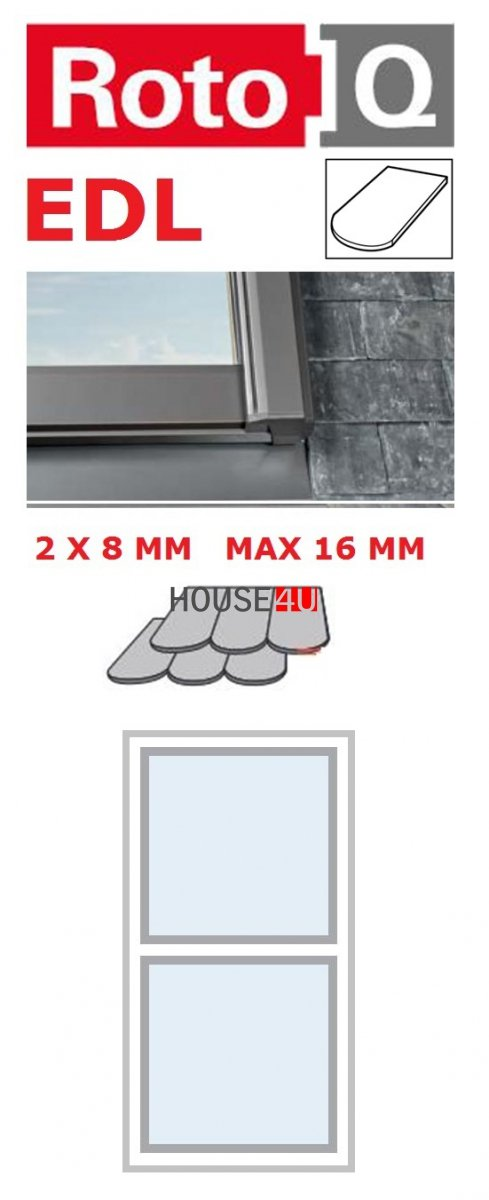 Kombi-Eindeckrahmen Roto Q-4 EDL 1/2 Eindeckrahmen für Flach erstreckt bis zu 1,6 cm www.house-4u.eu