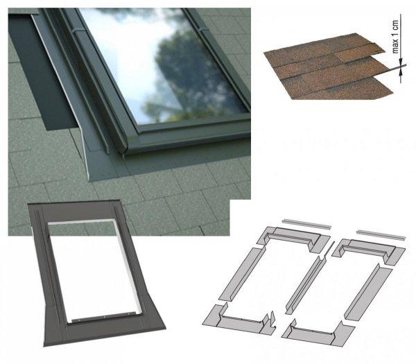 Kombi-Eindeckrahmen-Set Okpol KX2P für Flache Eindeckmaterialen www.house-4u.eu