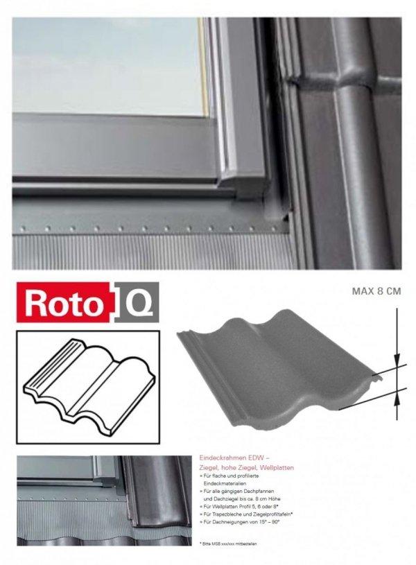 Kombi-Eindeckrahmen Roto Q-4 EDW 2/1 Eindeckrahmen - für profilierte Eindeckmaterialien / Profilbeläge bis zu 8 cm hoch Profil www.house-4u.eu