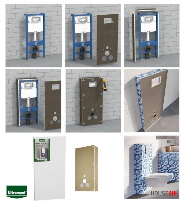 Bauplatten WC SET Ultrament