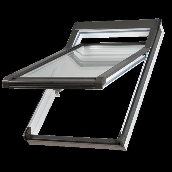 Dachfenster Okpol IGH E2 (PVC) Hoch-Schwingfenster Kunstoffenster PVC Profile in Weiß www.house-4u.eu
