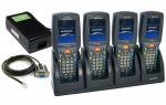 4x Kolektor Datalogic Skorpio 942251005 + stacja dokująca + zasilacz + kabel RS232 (używane)