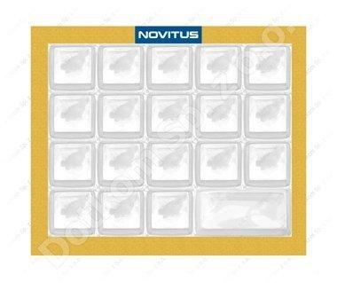 Gumowa pokrywa klawiatury do kasy fiskalnej Novitus Bravo 19kl.