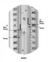 TFA 10.2007 termometr zewnętrzny cieczowy ekstremalny min / max aluminiowy