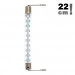 Termometr okienny Viking 02061 cieczowy zewnętrzny metalowy