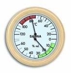 TFA 40.1006 termohigrometr do sauny czujnik temperatury i wilgotności mechaniczny duży 195 mm