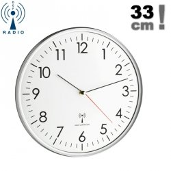 Zegar ścienny TFA 60.3514 wskazówkowy sterowany radiowo średnica 33 cm