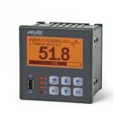 Rejestrator danych uniwersalny 4-kanałowy temperatury i sygnałów analogowych APAR AR206-4 wyświetlacz LCD tablicowy 96x96 mm