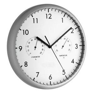 TFA 98.1072 zegar ścienny wskazówkowy z termometrem i higrometrem 27 cm