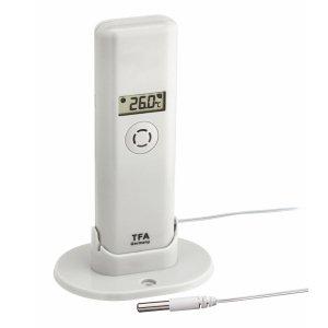 TFA 30.3304 czujnik temperatury i wilgotności bezprzewodowy z wodoszczelną sondą do WeatherHub Smart Home