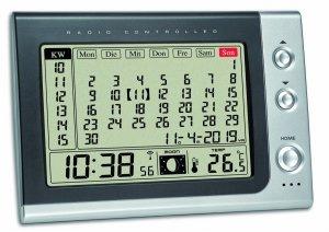 TFA 60.2529 budzik biurkowy zegar elektroniczny sterowany radiowo z termometrem