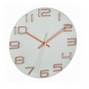 TFA 60.3043 zegar ścienny wskazówkowy płynąca wskazówka szkło średnica 30 cm