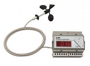 A-Ster A-144-R wiatromierz sygnalizacyjny anemometr rejestrator wiatru alarmowy