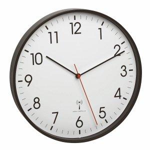 TFA 60.3537 zegar ścienny wskazówkowy sterowany radiowo płynąca wskazówka stal nierdzewna szkło średnica 31 cm