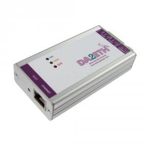 Papouch DA2ETH konwerter przemysłowy sygnału cyfrowego do analogowego konwerter cyfrowy Ethernet do analog