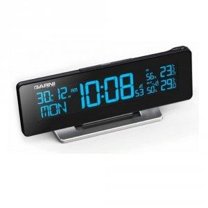 Garni 185 ARCUS zegar biurkowy z zewnętrznym czujnikiem temperatury i wilgotności