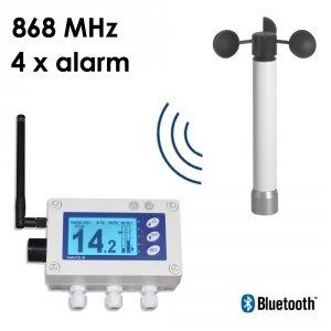 Wiatromierz sygnalizacyjny bezprzewodowy Navis W410 anemometr mechaniczny wyjście przekaźnikowe alarm dźwiękowy i wizualny