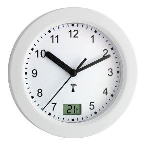 TFA 60.3501 zegar łazienkowy ścienny wskazówkowy sterowany radiowo z termometrem 17 cm