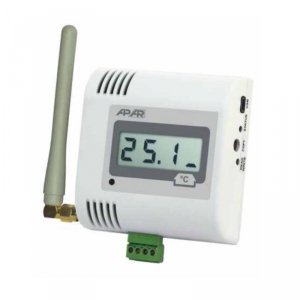 APAR AR434 czujnik temperatury dwukanałowy bezprzewodowy przemysłowy termometr wewnętrzny naścienny LCD radiowy
