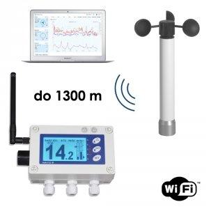 Wiatromierz sygnalizacyjny bezprzewodowy Navis W410XW wyjście przekaźnikowe moduł on-line WiFi alarm dźwiękowy i wizualny