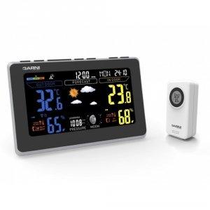 Garni 570 EASY II stacja pogody bezprzewodowa  z czujnikiem zewnętrznym temperatury i wilgotności i portem USB do ładowania
