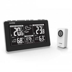 Garni 560 EASY II stacja pogody bezprzewodowa  z czujnikiem zewnętrznym temperatury i wilgotności i portem USB do ładowania