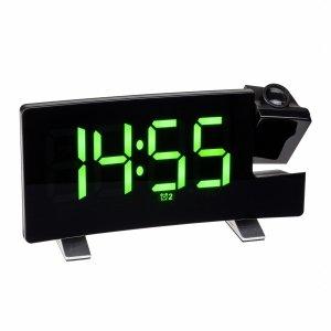 TFA 60.5015 budzik biurkowy zegar elektroniczny sterowany radiowo z termometrem i projektorem