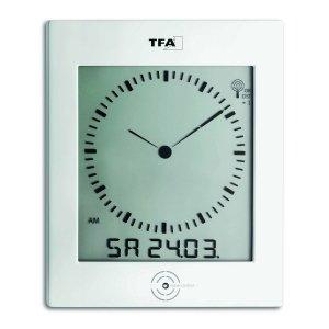 TFA 60.4506 zegar elektroniczny ścienny biurowy sterowany radiowo z termohigrometrem