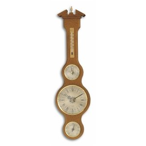 TFA 45.3004 stacja pogody tradycyjna mechaniczna z zegarem kwarcowym barometr ścienny