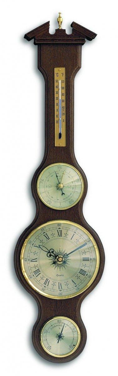 Stacja pogody tradycyjna TFA 45.3004 mechaniczna z zegarem kwarcowym barometr ścienny
