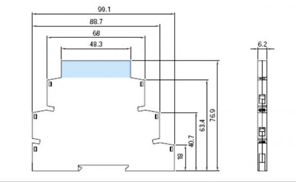 APAR AR581 moduł pomiarowy temperatury termometr przemysłowy na szynę DIN wejście uniwersalne wyjście analogowe bez separacji galwanicznej