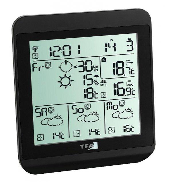 TFA 35.1130 METEOTIME FIESTA stacja pogody bezprzewodowa z czujnikiem zewnętrznym z prognozą pogody radiową