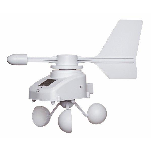 TFA 30.3307 czujnik prędkości i kierunku wiatru bezprzewodowy wiatromierz anemometr do WeatherHub Smart Home