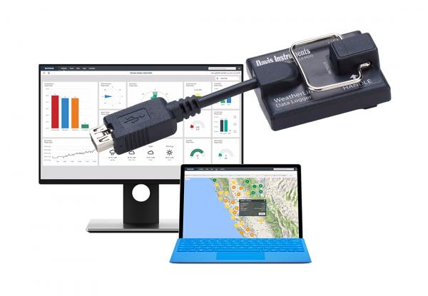 Davis WeatherLink rejestratorem danych USB z oprogramowaniem