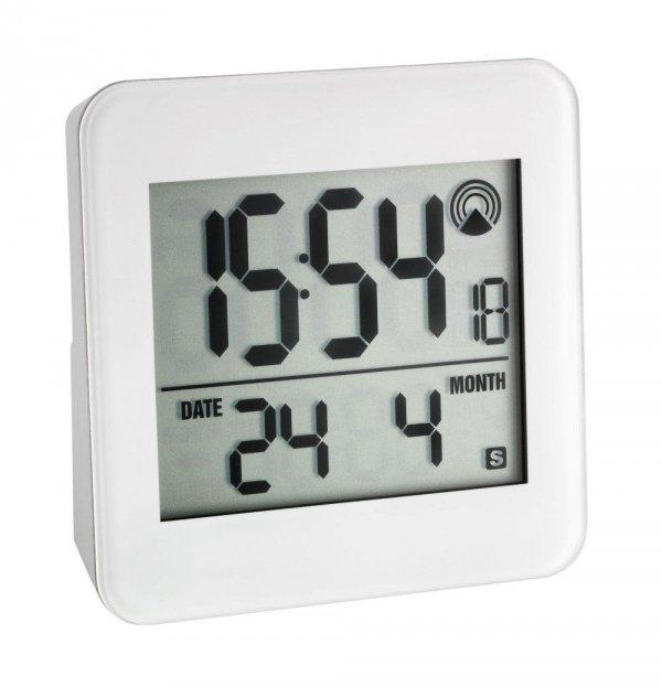 TFA 60.2523 budzik biurkowy zegar elektroniczny sterowany radiowo