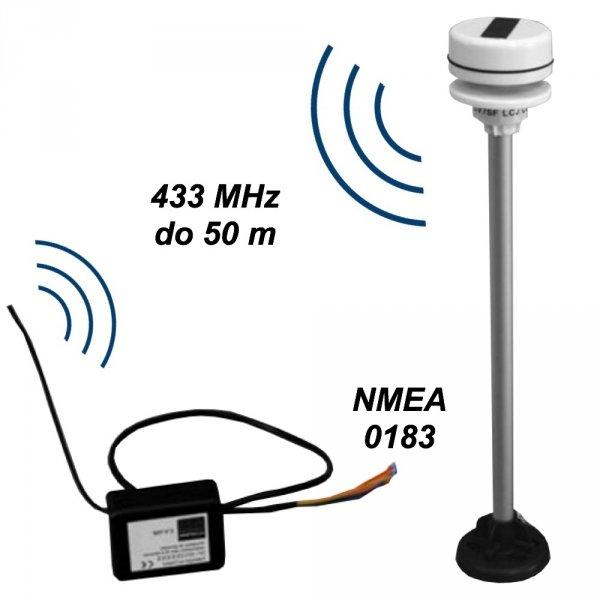 LCJ Capteurs CV7-SF wiatromierz ultradźwiękowy dwuosiowy mini-anemometr bezprzewodowy na jacht NMEA 0183