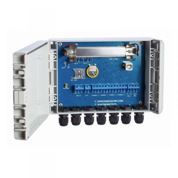 PM Ecology RADIO WIND stacja anemometryczna ultradźwiękowa z transmisją GPRS/GSM stacja pomiarowa on-line wiatru