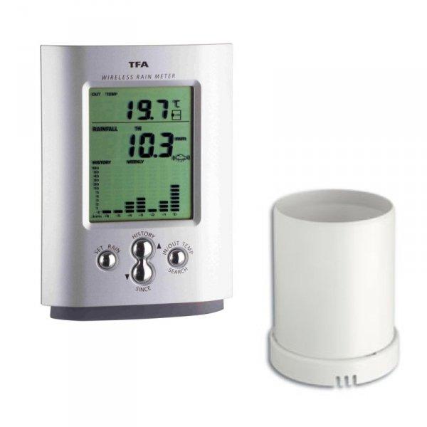 TFA 47.3003 MONSUN deszczomierz elektroniczny bezprzewodowy z termometrem zewnętrznym