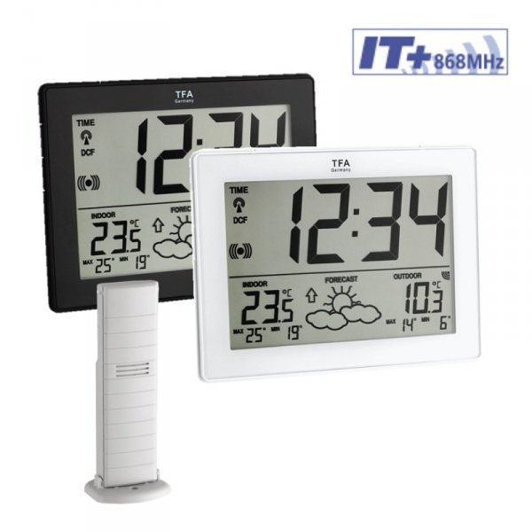 TFA 35.1125 METRO stacja pogody bezprzewodowa z czujnikiem zewnętrznym błyskawiczna transmisja