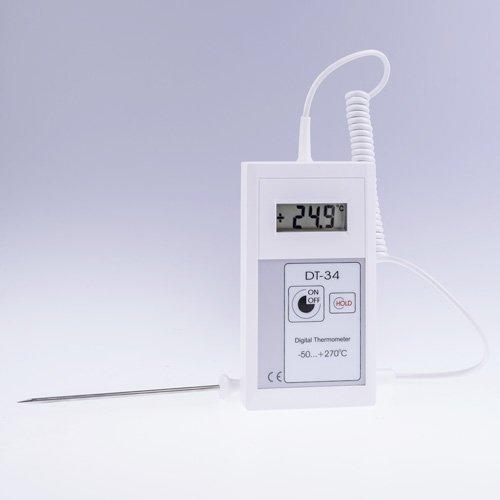 Termometr laboratoryjny DT-34S elektroniczny rezystancyjny Pt1000 z sondą szpilkową na przewodzie spiralnym
