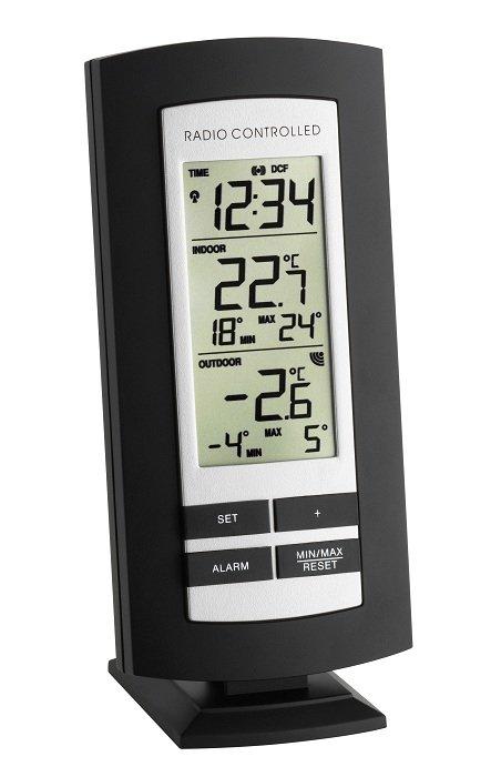 TFA 30.3037 BASIC termometr bezprzewodowy z czujnikiem zewnętrznym błyskawiczna transmisja