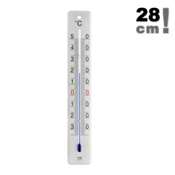 TFA 12.2046 termometr zewnętrzny cieczowy ścienny metalowy 28 cm