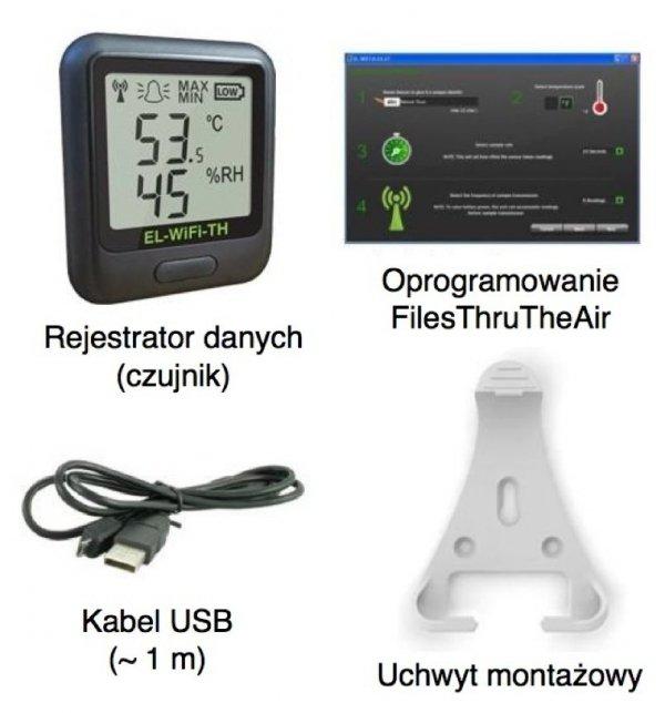 Corintech EL-WiFi-TH rejestrator temperatury i wilgotności internetowy data logger WiFi, IP, Ethernet